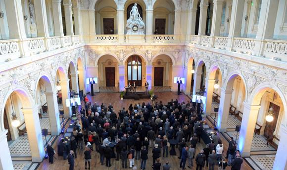 Le mariage TGL Group-Floriot  et Artefact célébré à la CCI de Lyon
