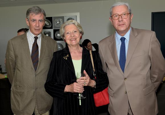 10. Jean-Noël Gabolde, Ancelyse Roux de Bézieux et Michel Condamin, commissaire des Courses
