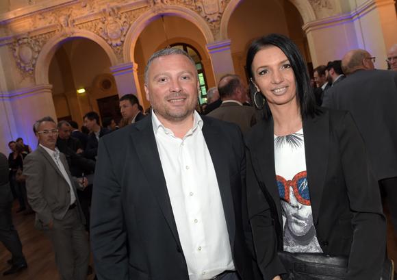 19. Stéphane Morot-Sir (ASVEL Basket) et Karine Fontaine (Floriot immobilier prestige)