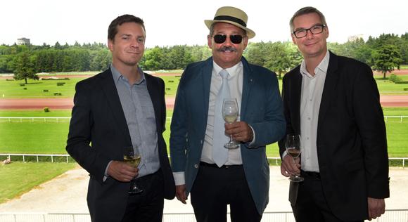 19. Alexandre Froment (PMU), Gérard Vacher, président de l'Hippodrome de Feurs et Bertrand Leblond (PMU)
