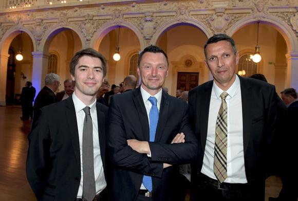 21. Olivier Pichot (Crédit Agricole), Franck Lefebvre (Crédit Agricole région investissement) et Gérald Berthet (Crédit Agricole)
