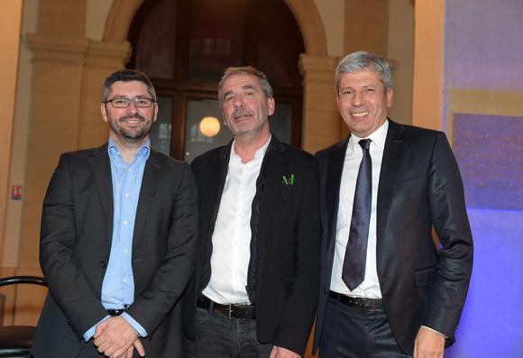 26. Frédéric Boisson (Artefact), Pierre-Jean Perrin (Puzzle) et Thierry Glories, président de TGL Group-Floriot