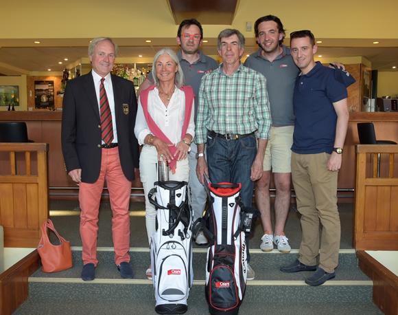 26. Gilles Lefebvre, président du Golf Club de Lyon, Christiane Lalain, Alexandre Gonzalez, vainqueurs du Trophée Orpi Lyon, Philippe Copin, Jean-Christophe Clech et Cédric Moulin (Orpi)