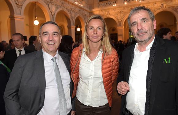 29. Olivier Bertrand, Laurence Derobert (Crédit Agricole) et Pierre-Jean Perrin (Puzzle)