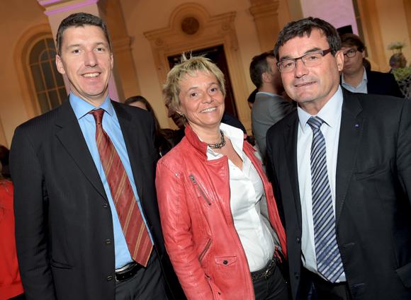 31. Paul Culty (MEDEF de l'Ain), Françoise Bourgin (CGPME de l'Ain) et Jean-Marc Bailly (CCI de l'Ain)