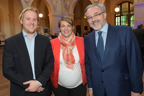 4. Benoît Terriere (Syntagme), Céline Pomathiod-Carry (TGL Group-Floriot) et Erick Roux de Bézieux (Syntagme)