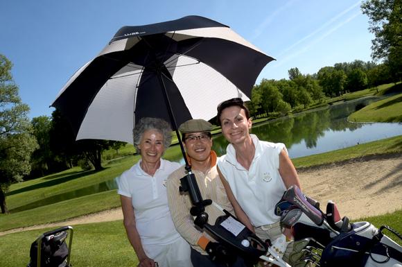 8. Edith Bronder, Kim Buyng Sun et Véronique Grange
