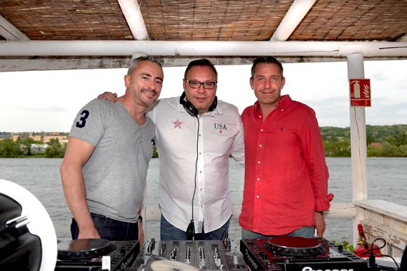 8. Patrick di Folco (Optimi'z), DJ Philippe Jacquet et David Delaye (Blount)