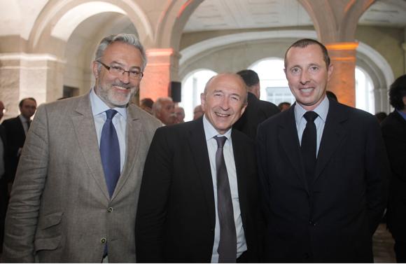 10. Erick Roux de Bézieux, Gérard Collomb, maire de Lyon et Eric Thouvenel