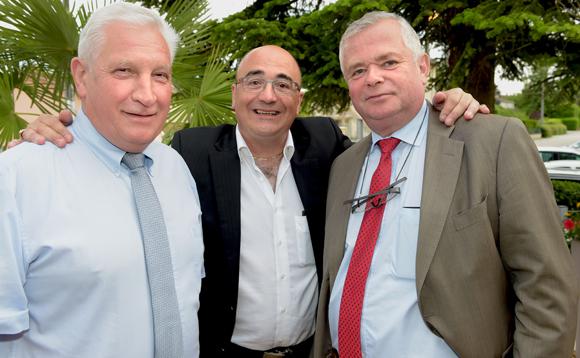 10. Gilbert Limandas, président de la Chambre d'Agriculture de l'Ain, Franck Sucillon et Gérard Cormorèche, président du Crédit Mutuel Sud-Est