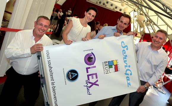 11. Serge Vendittelli (A Aléo), Frédérique Demottaz (Olex Impact), Emmanuel Brun (Groupe Brun assurances) et Philippe Neri (Servi Gaz)