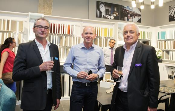 12. Hubert Bigot, Bernard Verot (Décoceram) et Jean-Yves Berthelot (IBS), architecte