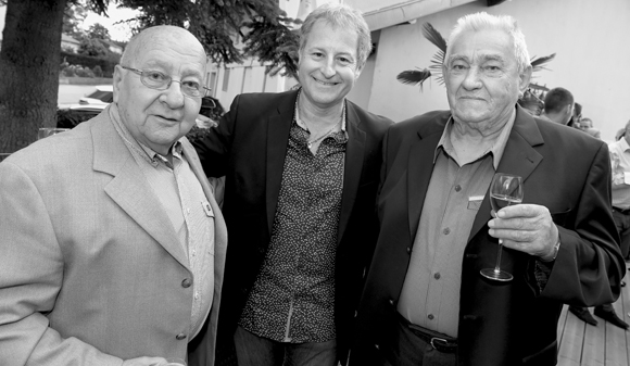 12. Jean Cabut, François Belay, speaker du tour de France et Jean Picard