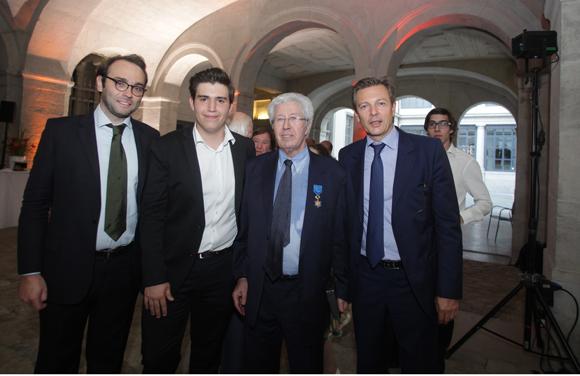 13. Jérémie Breaud, Samuel Soulier, André Soulier et Pascal Blache, maire du 6ème