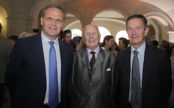 15. François-Noël Buffet, sénateur-maire d'Oullins, Christian Gabolde, Conseiller d'Etat Honoraire et Christian Philip