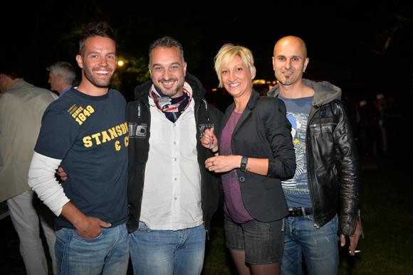 15. Guillaume Cedon (Leny), Jacky Coiro (Jack Climat), Marjorie Guillemot et Maurizio Battaioli (Gentleman taxi 69)