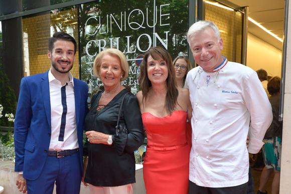 17. Romain Briançon (Clinique Crillon), Raymone Carlut, Marie Briançon (Clinique Crillon) et le chef Christian Têtedoie (restaurant Têtedoie)