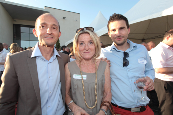 18. Alain Choucan (One System), Laurence Ambrona (Global Knowledge) et Franck Tronel (Lindab)
