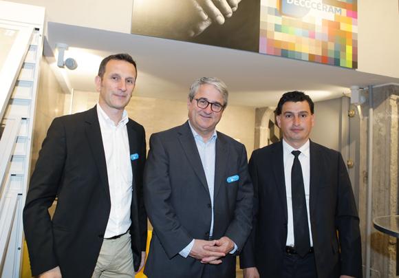 20. Christophe Callon, Jacques Bestre (Décoceram) et Dervis Teber (Groupe Avenir)