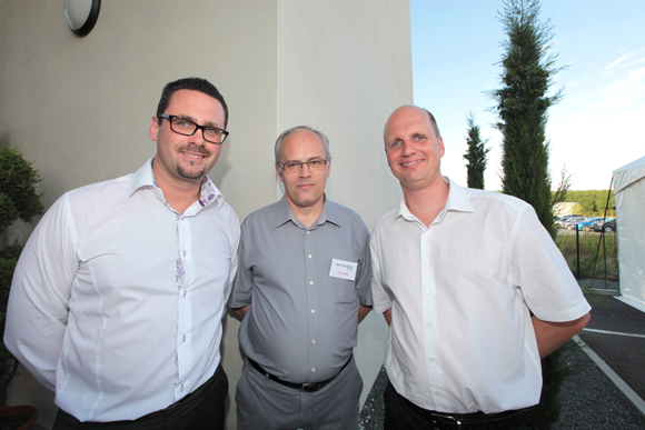 21. Olivier Degarne (Stormshield), Philippe Valy (One System) et Stéphane List