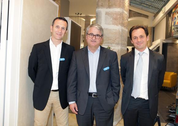 2. Christophe Callon, Jacques Bestre (Décoceram) et Eric Gottié (Isover)
