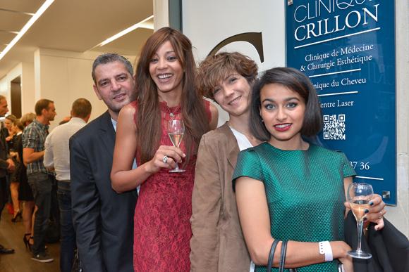 29. Alexis Guichard (Visual Boutique), Jihane Guichard (Champagne Frerejean Frères), Valérie Bouche (Le Petit Institut) et Glaoua Diane (Alpha & Omega)
