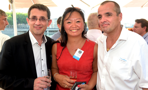 3. Romuald Fanelli (SBBRT), Maïté Rouanne (A Aléo) et Philippe Tissot (Servi Gaz)