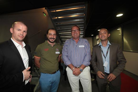 32. Sandy Leonelli et Alain Choucan (One System) autour de Julien Zaroukian (Lyon Clim Services)