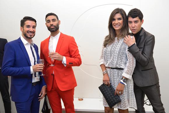 33. Romain Briançon (Clinique Crillon), Yuri Morales (Hair & Make Up Artist), Tatiane Gomez (Freitas) et Dado Lopez Perez (styliste)
