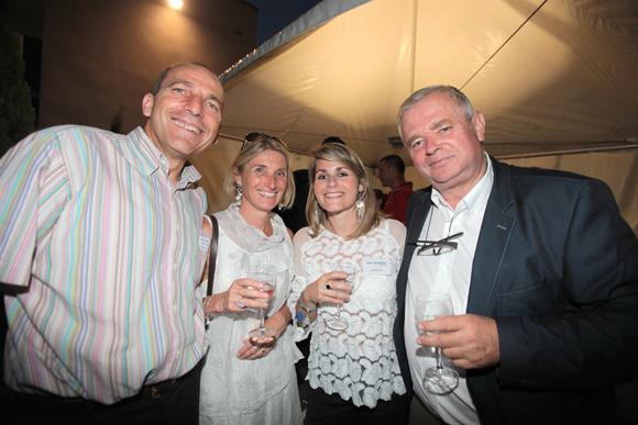 36.  Christophe et Fabienne Quatrini (Charvet Industries), Maxence et Gérard Cormorèche (Crédit Mutuel)