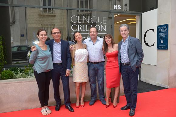 3. Sonia Ascher (IMCAS), Jean-Louis Briançon (Clinique Crillon), Sophie et Gérard Brossier (Cote Anglaise), Marie Briançon (Clinique Crillon) et Benjamin Ascher (chirurgien esthétique)