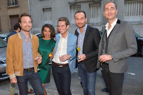 38. Guillaume (Jallas), Glaoua (Alpha & Omega), Camille Grenoiller (Okko Hôtel), Jessy-Yves Manteau (UTEI) et Nicolas Costa (médecin esthétique)