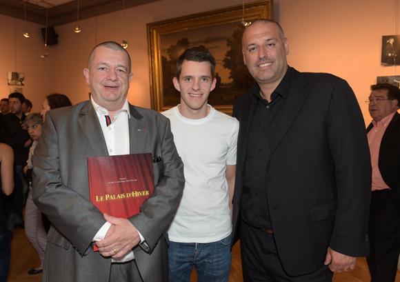 4. Christophe Marguin, président des toques blanches, son fils Victor et Philippe Bernachon