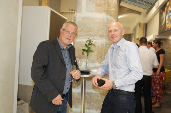 5. Bernard Narbonnet (Décoceram) et Jean-Yves Berthelot (IBS), architecte
