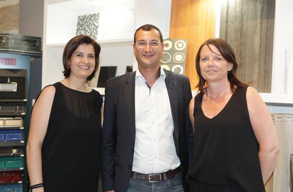 8. Dina Patricola (Décoceram), Patrick Dartanian (Rhonoa) et Nicole Truminfki (Décoceram)