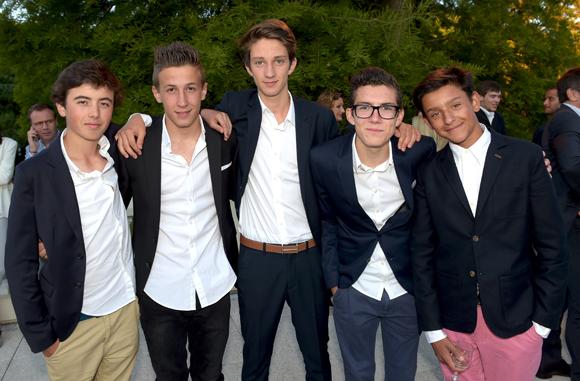 11. Baptiste Martin, Hugo Abate, Edouard Dietsch, Lucas Thomas et Mattéo Liucci
