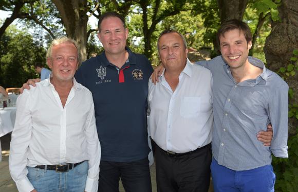 16. Jean-Claude Lavorel, Christophe Giradet (Victor & Compagnie), Emmanuel Gontier (Krug) et Grégory Cuilleron