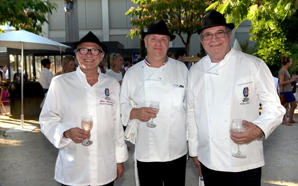 17. Gilles Maysonnave (Comptoir Brunet), Philippe Antonin (Aux Berges du Rhône) et Gilbert Reboul (Golf Club de Lyon)
