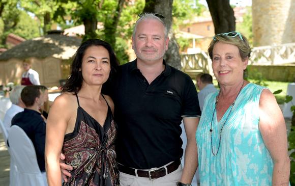 18. David Sudant, son épouse Isabelle (Cavinea Caviste) et Carole Dufour (Idées en Tête)