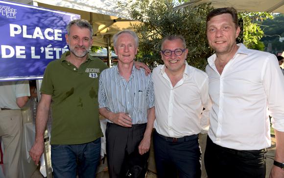 19. Mathieu Viannay (Mère Brazier), François Royer, adjoint au maire du 2ème, Joseph Viola (Daniel & Denise) et Frédéric Berthod (33 Cité)