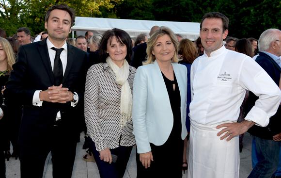 30. Charles Le Roy, Cathy Merli, Chantal Partouche et le chef Jean-François Malle (La Rotonde)