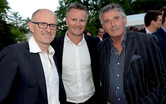 37. Didier Kermarrec (OL), Franck Chapon, directeur des UGC Lyon et Jacques (Wallace Pub)