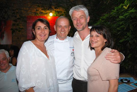 4. Christelle Cimetière (EMC), Maurizio (Due), Hubert Julien-Lafferière, maire du 9e et Sonia Cova (Link'art)
