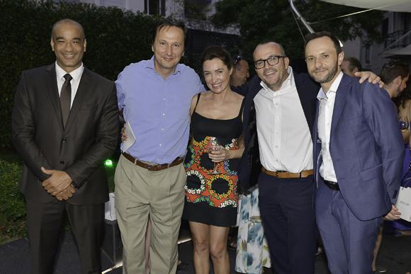 45. Bertrand Feugé (Iberia), Caroline Catoire (Axa,  gagnante d'une semaine à Cuba), Jérome Billy (Warwick Reine Astrid) et Jean-Marie Pebrel (directeur groupe Warwick)