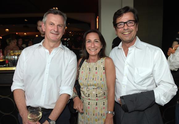 46. Pierre Fanneau, DG du groupe Progrès, Emmanuel Hamelin et son épouse Olivia