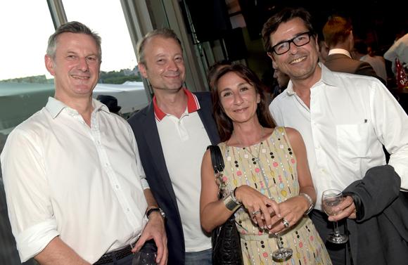 49. Pierre Fanneau, DG du groupe Progrès, Marco (Lyon People), Emmanuel Hamelin et son épouse Olivia