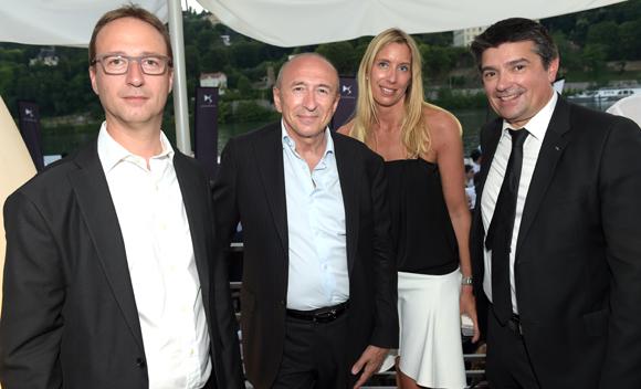 54. Christophe Nobis (DS Automobiles), Gérard Collomb, sénateur-maire de Lyon, Aline Germain et Philippe Menguy (DS Automobiles)