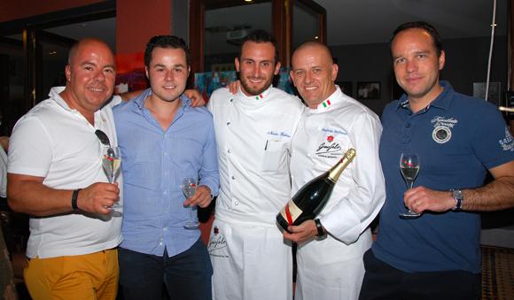6. Jean Burdy, Guillaume Pautrot, Nicolas Bullano et Maurizio (Due) et Jean-François Rivière (Mumm)