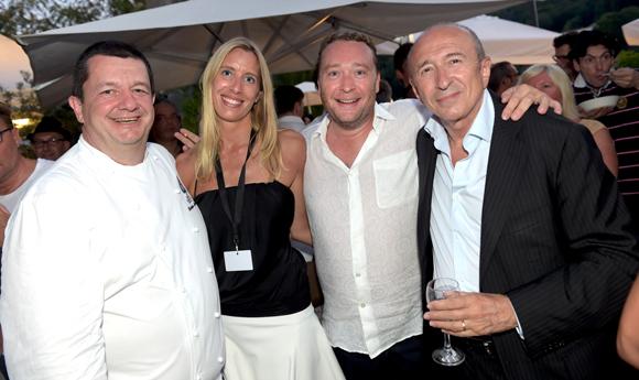 65. Christophe Marguin, Aline Germain (DS Automobiles), Benoît Toussaint (Restaurant Paul'O) et Gérard Collomb, sénateur-maire de Lyon