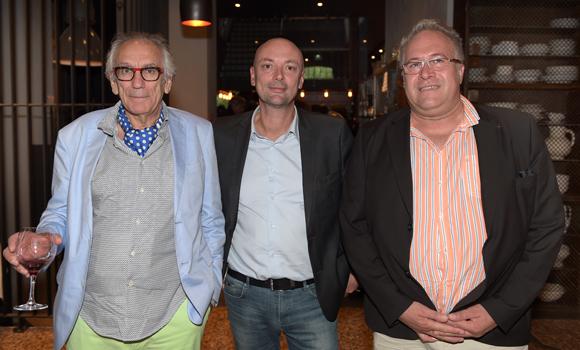 11. Albert Dray (Café du Pond), Jean-François Savoye (Lyon People Global) et Laurent Duc, président de l'UMIH Rhône